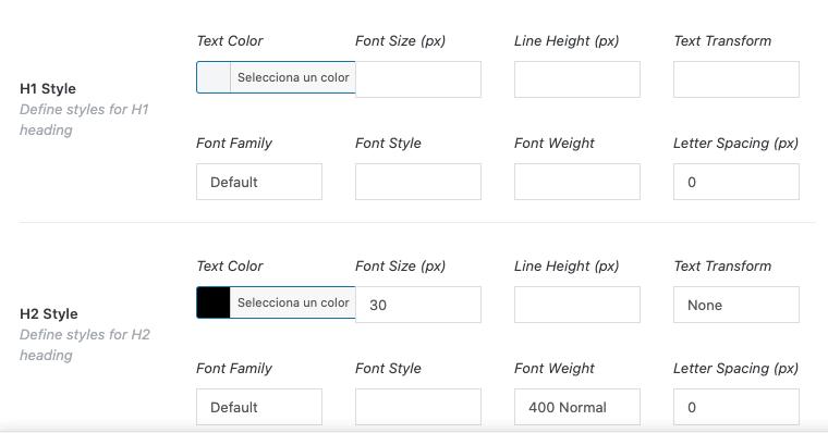 estils de les fonts de text H1, H2, H3,...